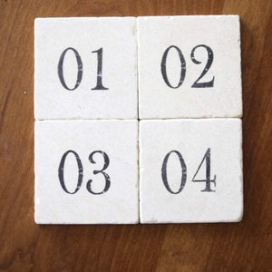 Marble Farmhouse Coaster Set