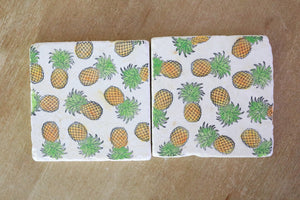 Pineapple Marble Coasters - Lace, Grace & Peonies
