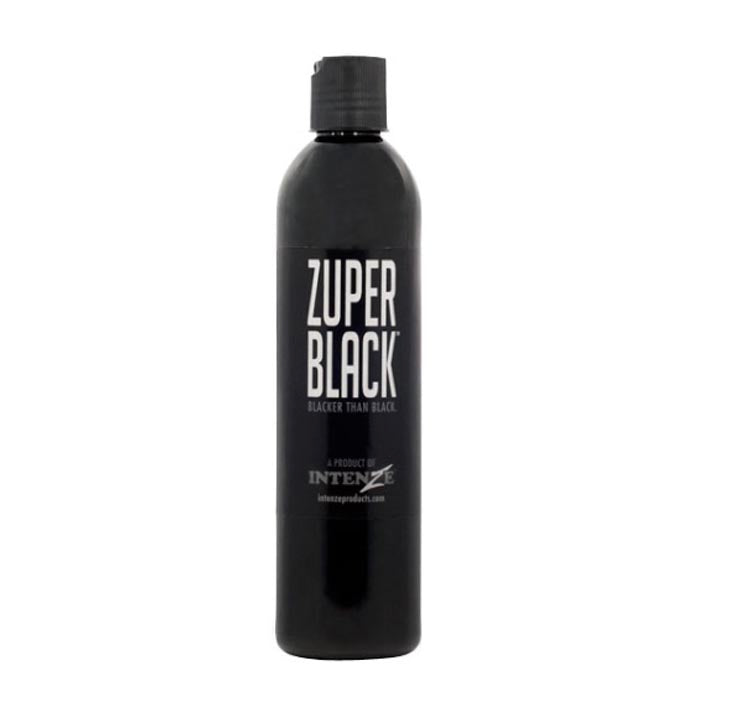 INTENZE INK ZUPER BLACK 12oz