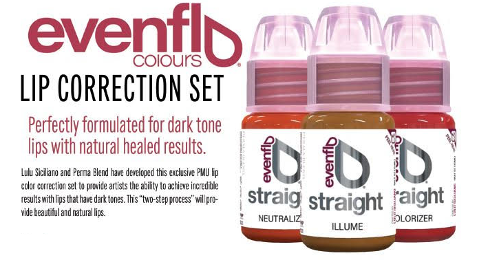 EVENFLO STRAIGHT - LIP COLOR CORRECTION SET