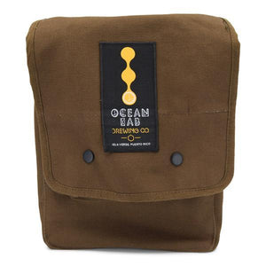 Ocean Lab Map Shoulder Brown Bag