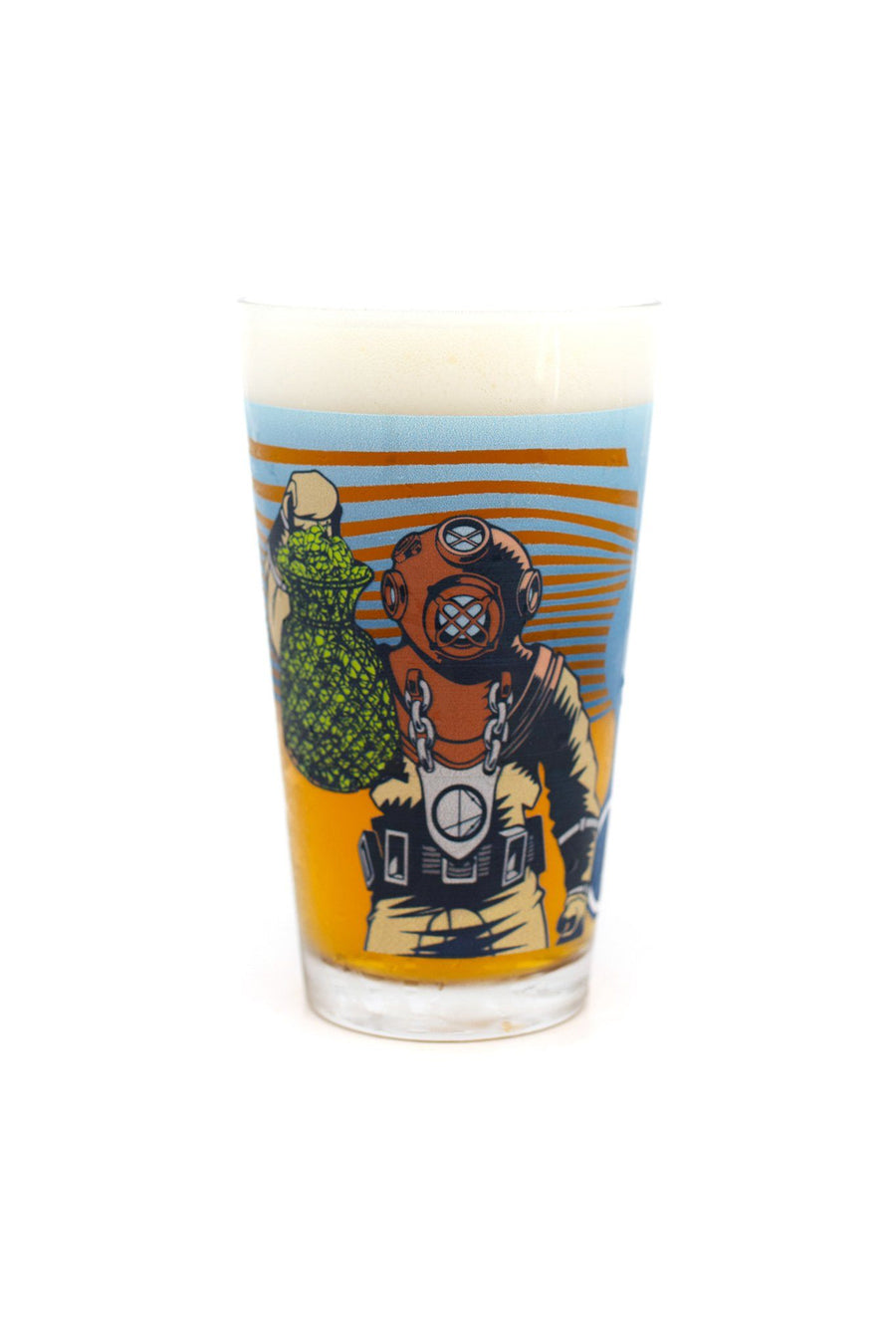 HopDiver Pint Glass