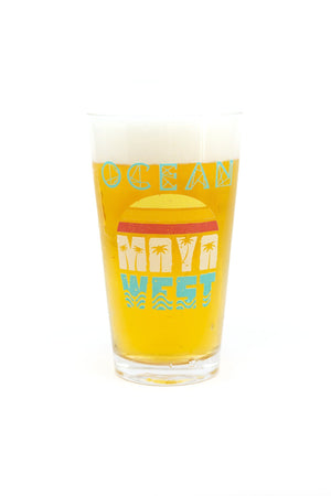 MayaWest Pint Glass