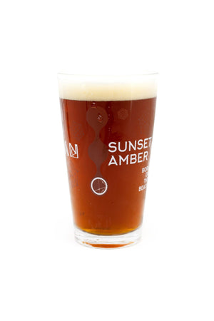 Sunset Amber Pint Glass
