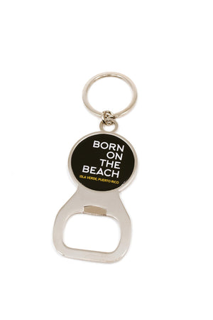 Born On The Beach Keychain Bottle Opener