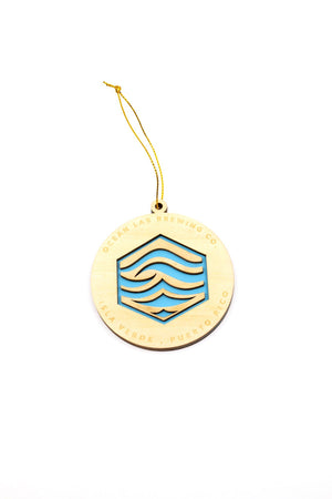 Water Wood Ornament