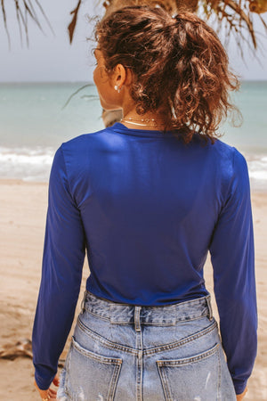 Ladies Rash Guard Blue
