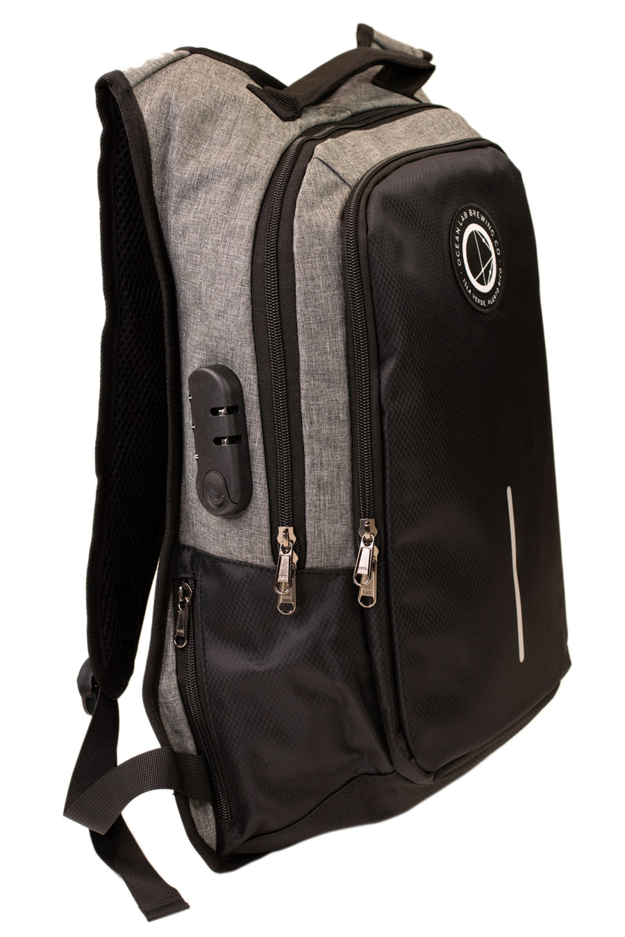 Ocean Lab Reflective Stripe USB Laptop Backpack