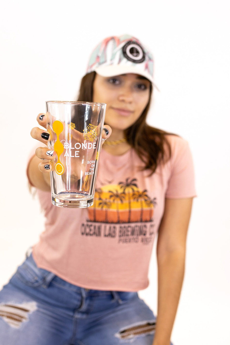 Blonde Pint Glass