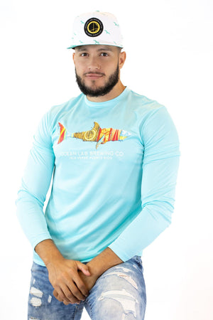 Shark Surfboard Rashguard