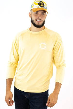 Long Sleeve Rash Guard Yellow / White