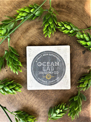 Ocean Lab Logo Wood Magnet