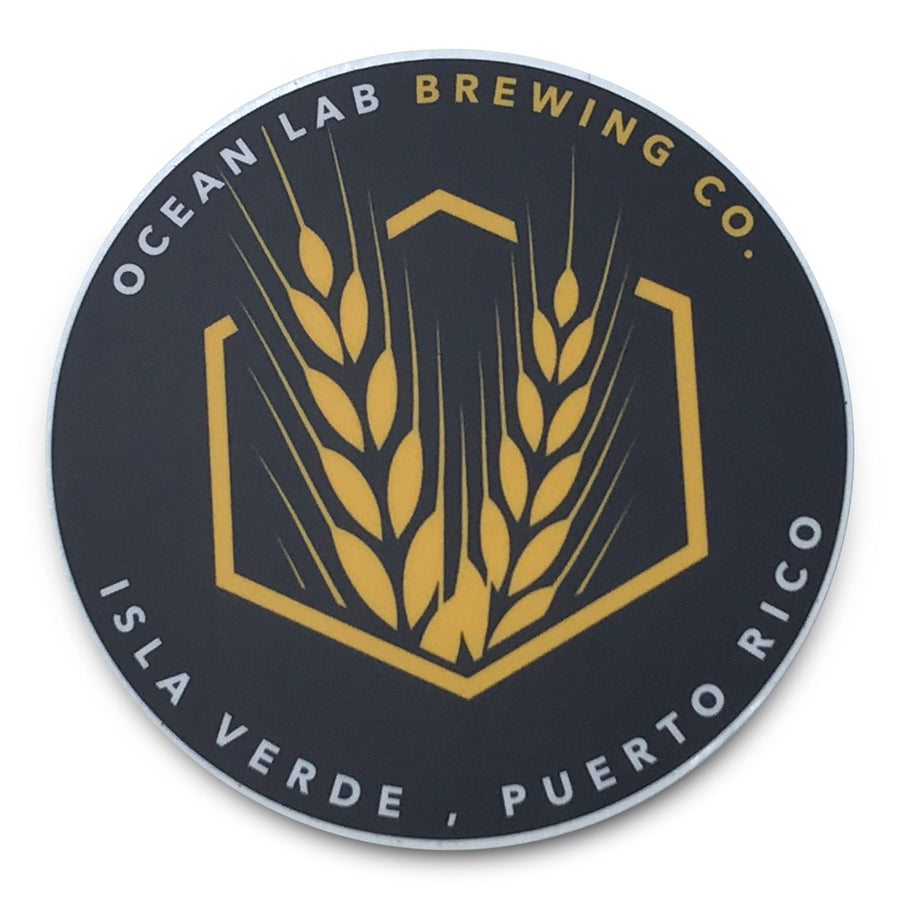 Sticker- Ocean Lab Barley Logo