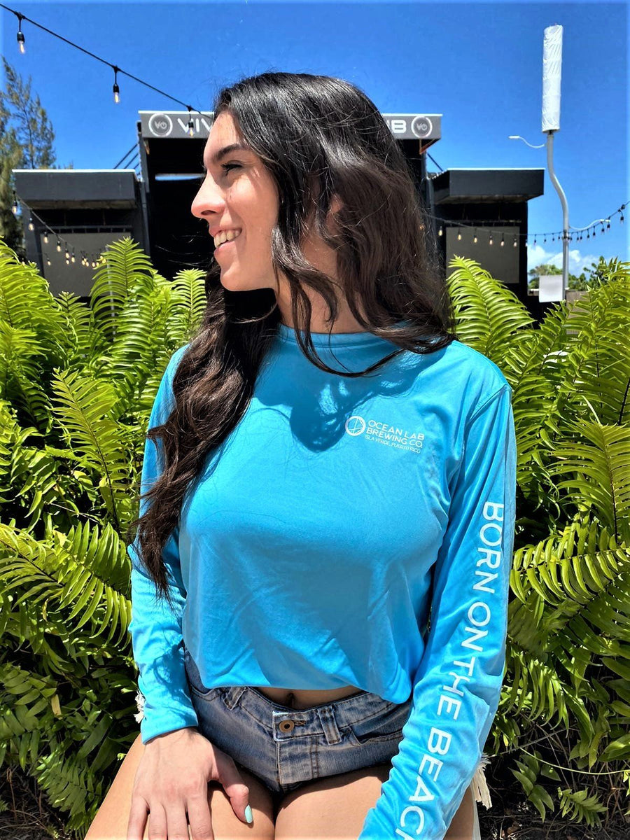 Long Sleeve Rash Guard Cali Blue