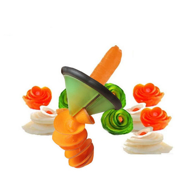 vegetable fruit curl spiral slicer