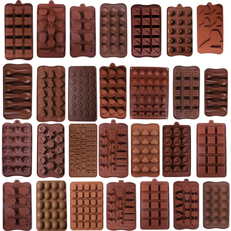 Shape 3D Silicone Numbers Fruit Chocolate Mold Candy Cookie Baking Fondant Mold Cake Decoration Tools