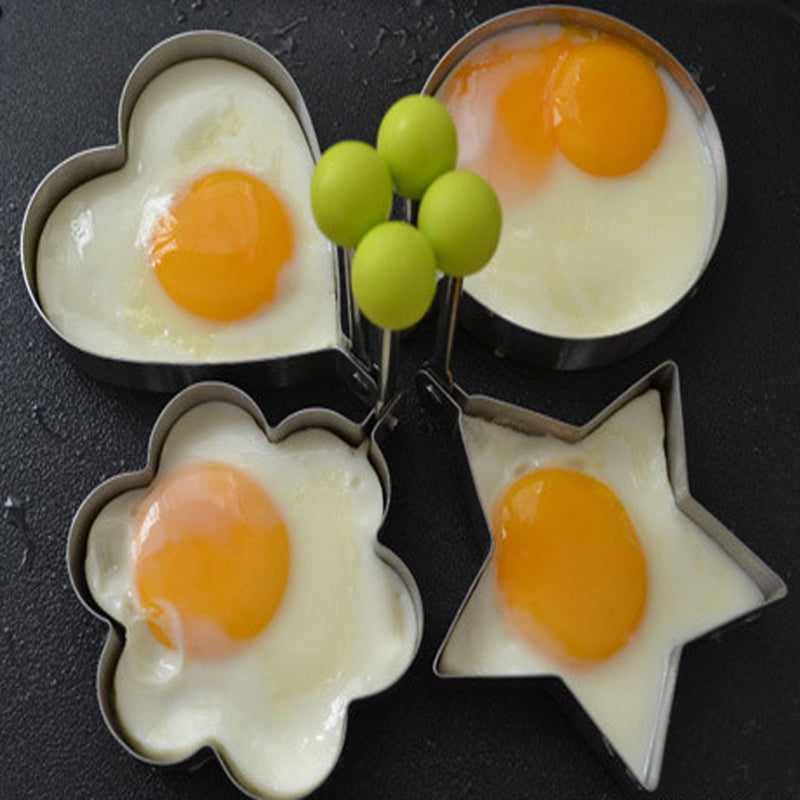 Stainless Steel Creative Cute Multi-styling Omelette Egg Frying Simple DIY Egg Fryer Baking Model