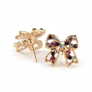 Colorful Bow Stud Earrings