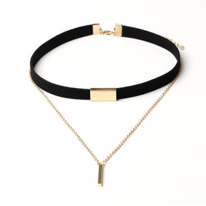 Choker and Chain Necklace - 4 Styles