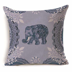 45x45cm Colorful Elephant Decorative Cushion Cover - 24 Variants