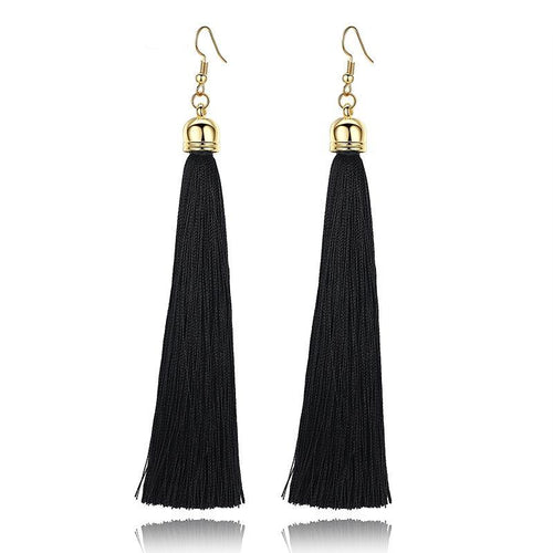 Long Tassel Earrings - 5 Colors