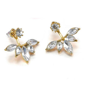 Crystal Pedal Stud Earrings - 3 Colors