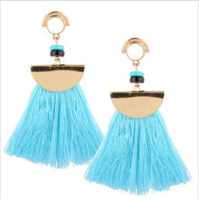 Grass Skirt Tassel Earrings