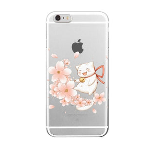 Cute Lucky Cat phone Cases For iPhone 6 6s 6Plus 7 7s 7plus