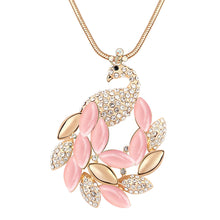 Pink Peakcock Necklace