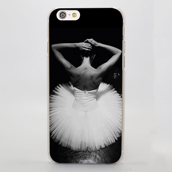 Black and White Ballerina iPhone Case ( For iPhone SE 5 5S 5C 6 6S 6 Plus 7 7 Plus)