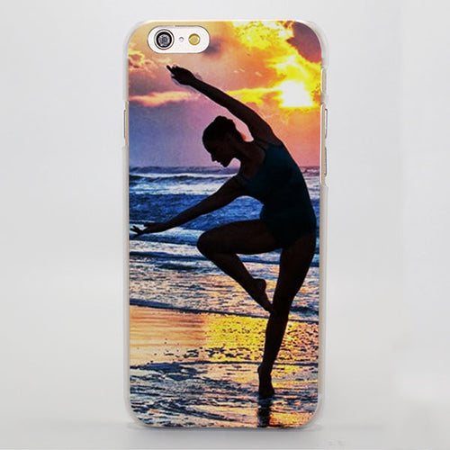 Sunset Ballerina iPhone Case ( For iPhone SE 5 5S 5C 6 6S 6 Plus 7 7 Plus)