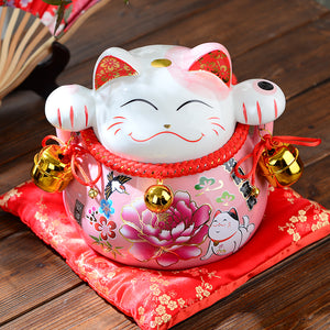 7.5 or 5 Inch Pink Lucky Cat