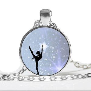 Ballerina Reaching For The Sky Necklace