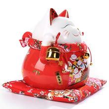 10 Inch Good Fortune Red Lucky Cat