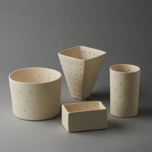 Ceramic Cheese Forms - by Emma Jimson
