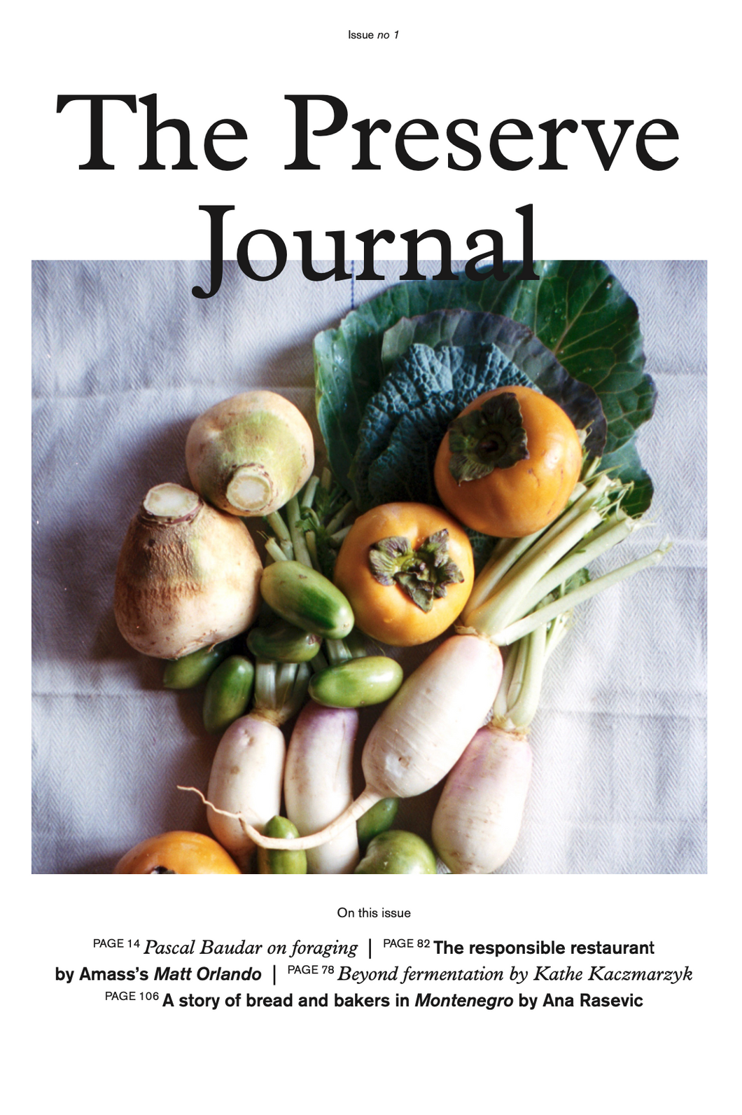 The Preserve Journal Issue no 1