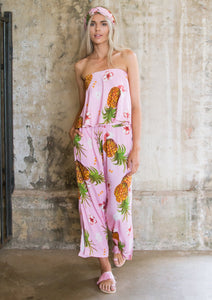 Pineapple Jumpsuit Pink