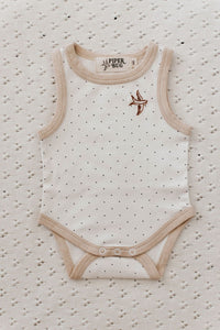 Basic Singlet Suit Snow Dotty