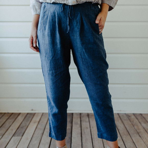 Sienna Linen Pants Denim
