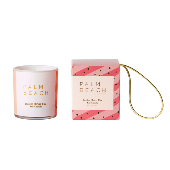 Palm Beach Hanging Bauble Mini Candle Passion Fizz