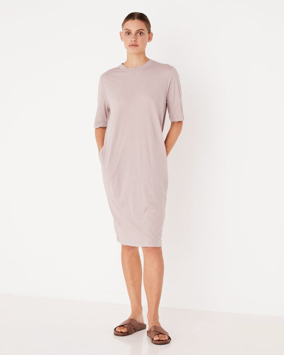Lightweight Cotton Tee Dress Fawn