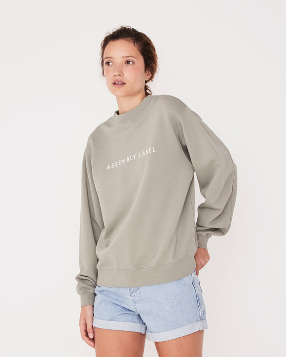 Logo Fleece Sweater Seagrass