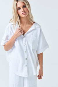 Coastal Breeze White Shirt