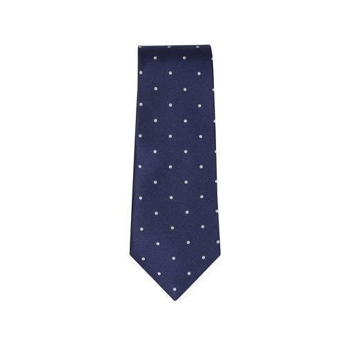 Small White Polka Silk Tie