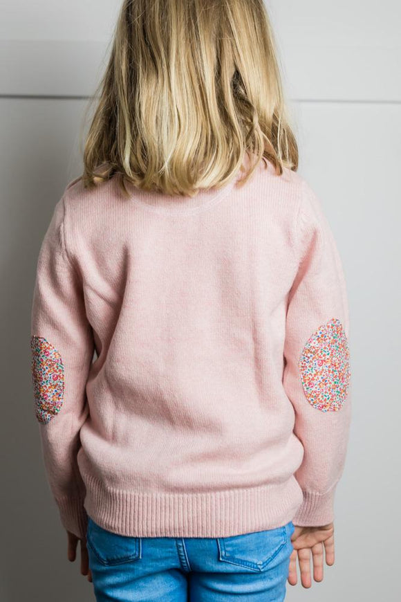Pink Florence Crew Neck Kids Knit