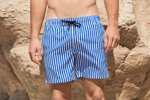Men's Swim Shorts Blue Stripe