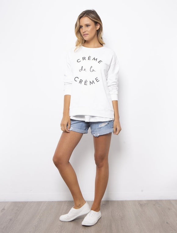 Creme Dela Creme Sweater White