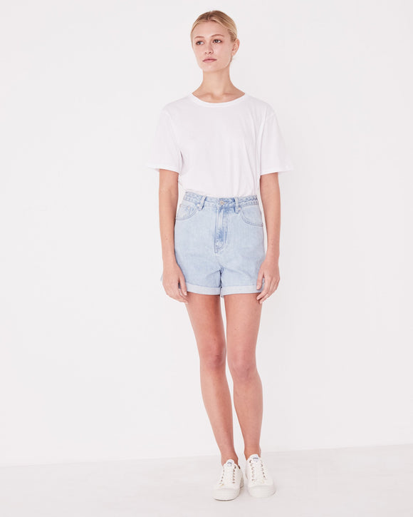 Rolled Hem Shorts Pacific Blue