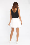 Jaymee Denim Skirt White