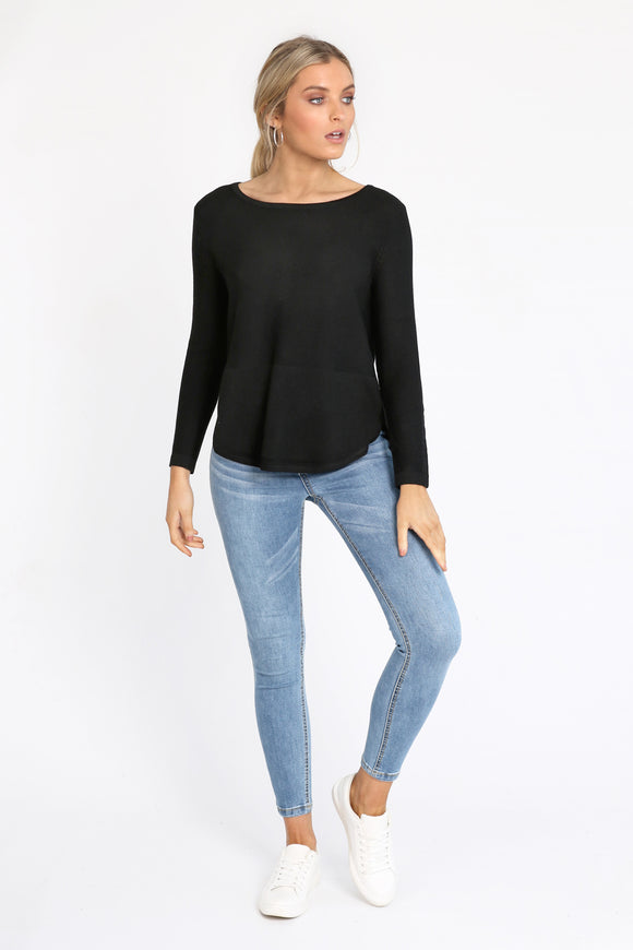Abbey Knit Black